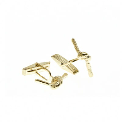 Carrie K. Forget me knot cufflinks-yellow gold_$208