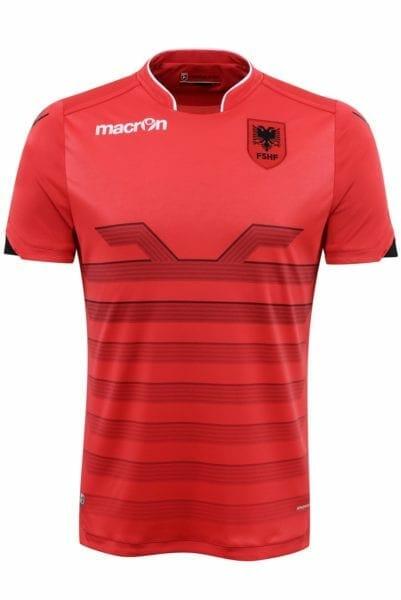Macron's jersey for Albania