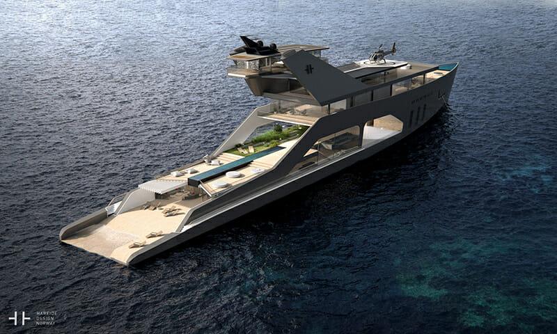 Hareide Design Envisions Ultimate Megayacht