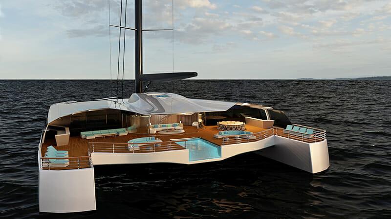 Isaac Burrough Catamaran Superyacht Concept