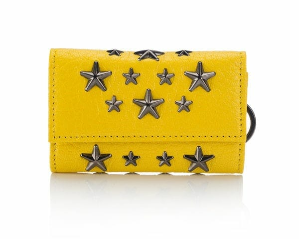 JIMMYH-CHOO0-HOWICK-SOFT-GRAINED-GOAT-LEATHER-WITH-STARS--POP-YELLOW-METALLIC-MIX