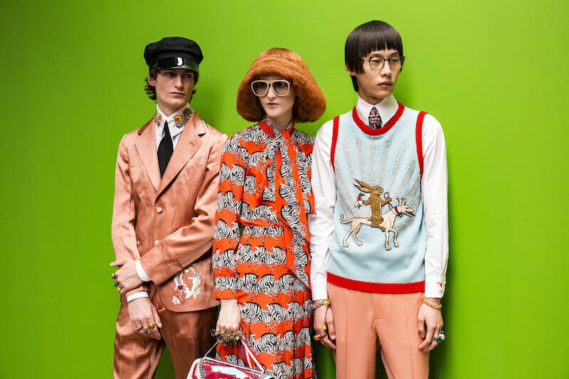 Alessandro Michele dreams up Gucci's #VintageMeetsNew wardrobe for SS17