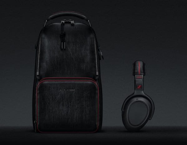 Travel Solution PXC_550 Sennheiser X Dior Homme headphone and Dior Homme backpack