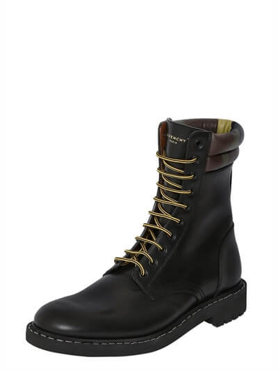 Givenchy Leather Military Boots