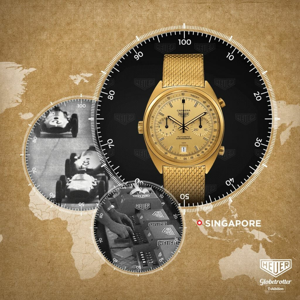 "TAG Heuer's ""Heuer Globetrotter"" exhibition travels to Singapore this September"