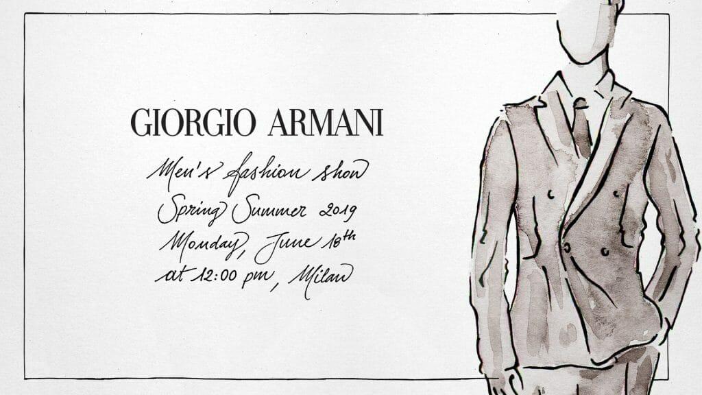 Live: Giorgio Armani Spring/ Summer 2019 Menswear