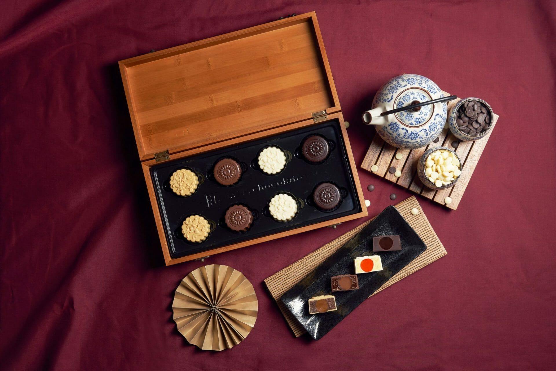 Awfully Chocolate Signature Chocolate Truffle Mooncake with Bamboo Box