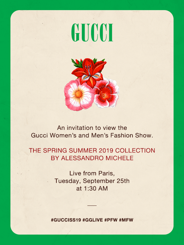 LIVE: Gucci Spring/Summer'19 Collection by Alessandro Michele