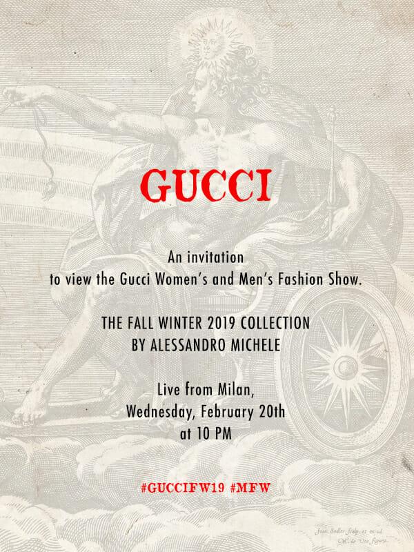 Livestream: Gucci Fall/Winter'19 Show