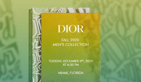 LIVESTREAM — Dior Men Pre-Fall '20 Fashion Show