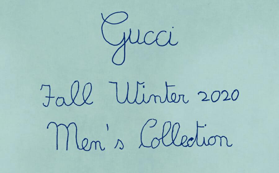 LIVESTREAM — Gucci Men's Fall/Winter '20 Show
