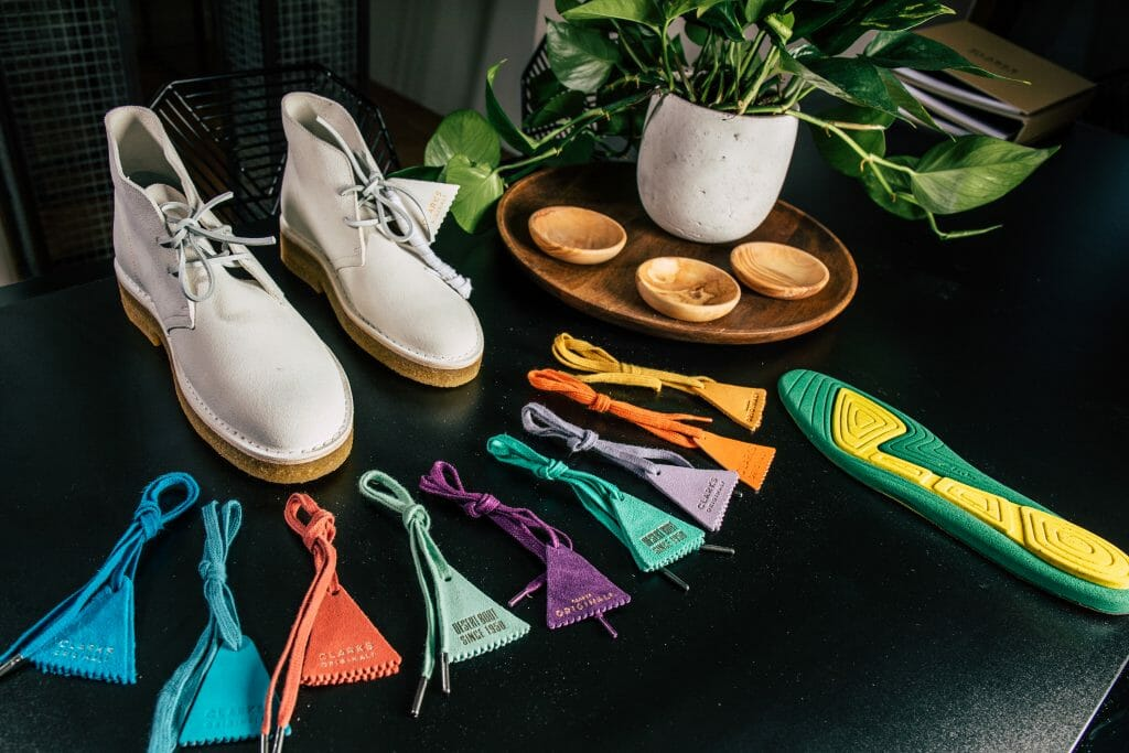 Rainbow Road — Clarks's Iconic Desert Boot Gets a Fresh Coat of Paint
