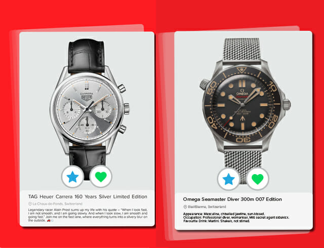 Love Profile — What If Watches Had a Dating Profile