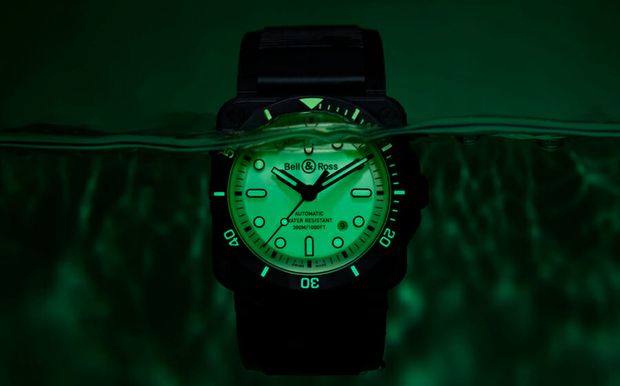 A Punch of Light with the Bell & Ross BR03-92 Diver Full Lum