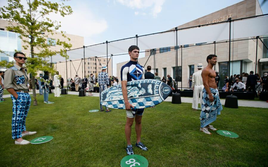 Dolce&Gabbana Spring 2021 Menswear Show was Big, Blue and Beautiful