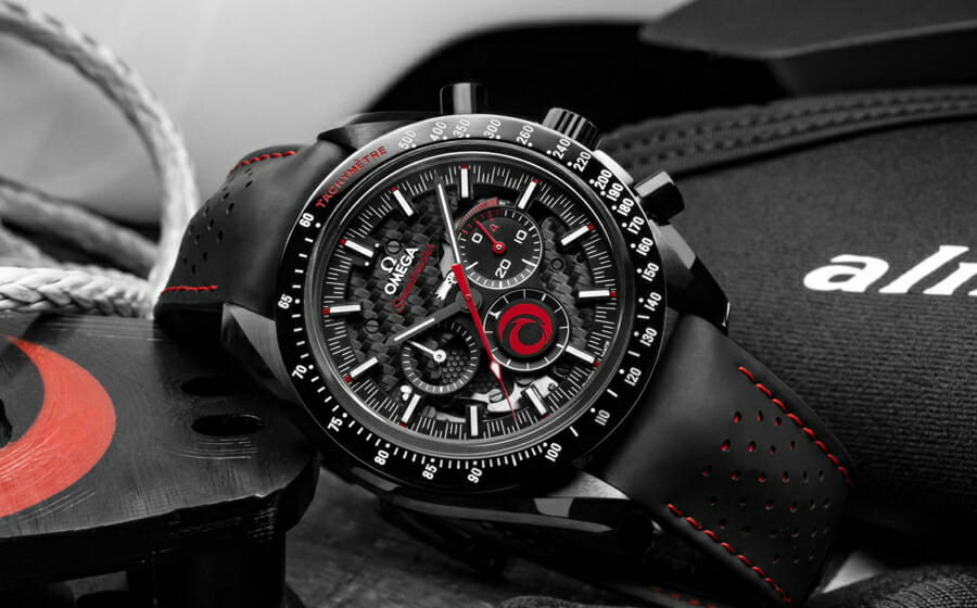 Omega and Alinghi Team Up for the Speedmaster Dark Side of the Moon Alinghi