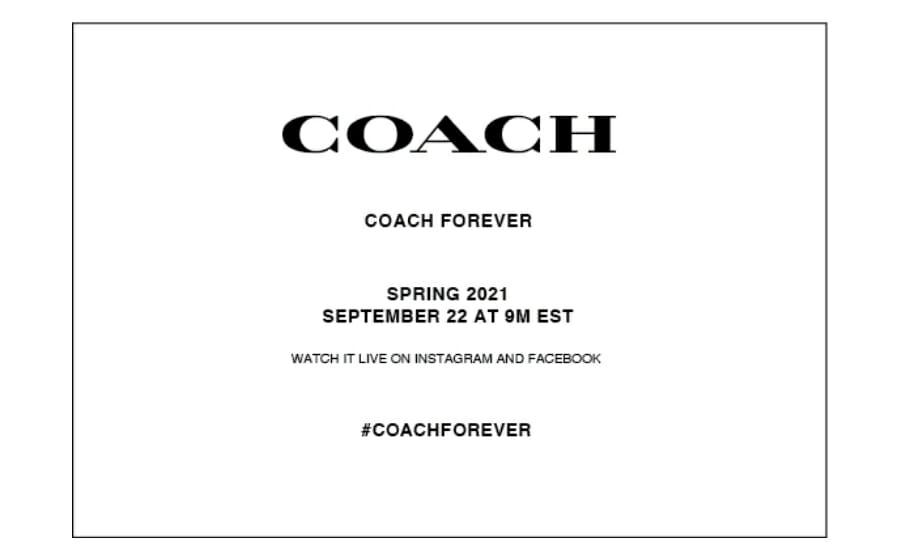 LIVESTREAM — Coach Spring 2021 Collection