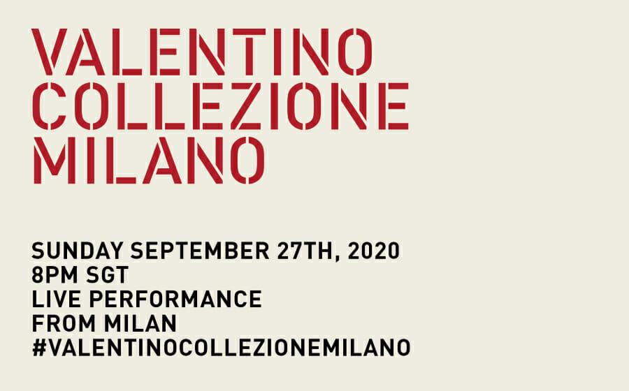 LIVESTREAM — Valentino Collezione Milano
