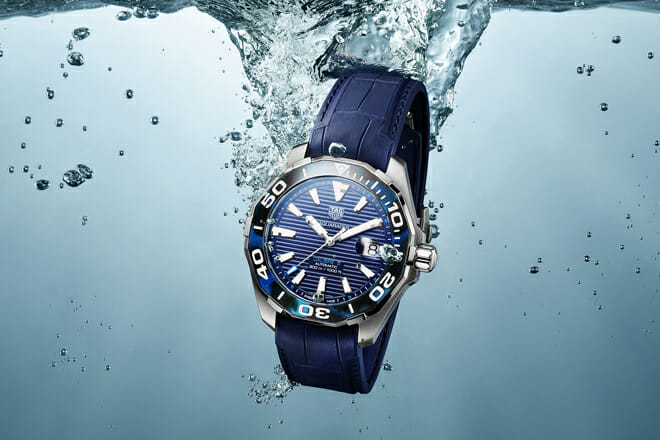 TAG Heuer Aquaracer small watch detail