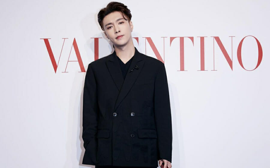 #ManCrushMonday — Lay Zhang Brings the Black Suit Trend Back