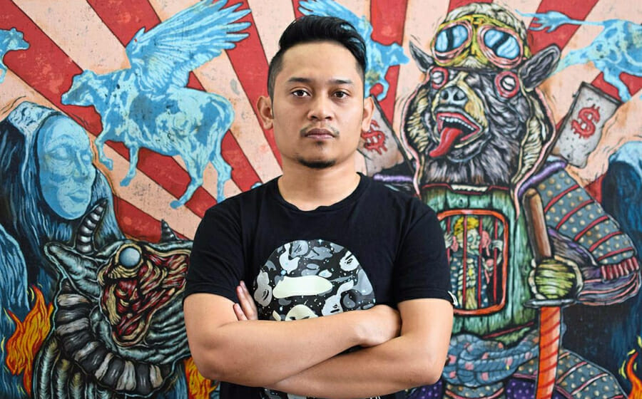 Malaysian Artist Shafiq Nordin Fights Imperialism Through his Canvas