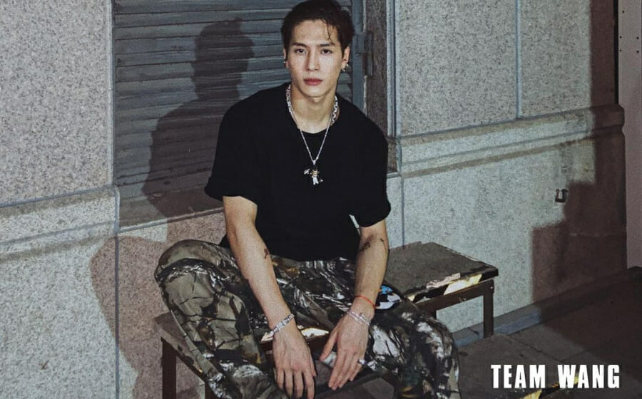 #ManCrushMonday — This is Jackson Wang's Big Black Tee Fit