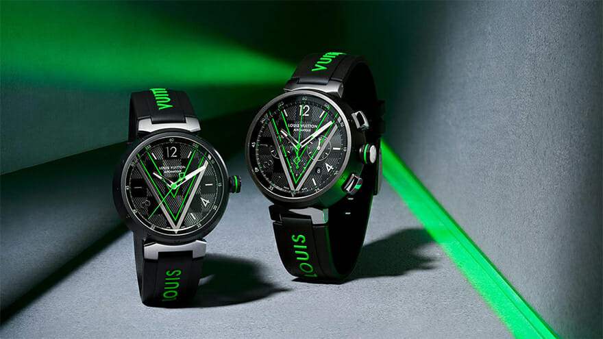 The Louis Vuitton Tambour Damier Graphite Race Is a Combination of Two Icons