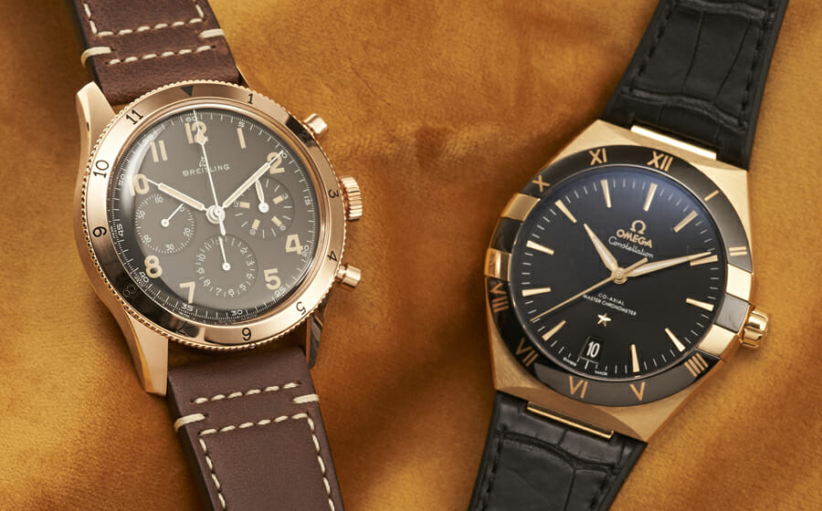 Complement Gold Watches With Leather