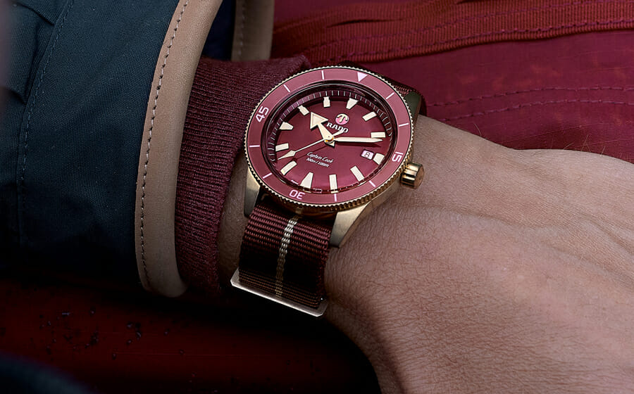 Fall in Love with Rado Captain Cook Bronze Burgundy