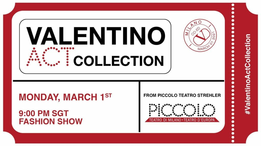 LIVESTREAM — The Valentino Act Collection Show