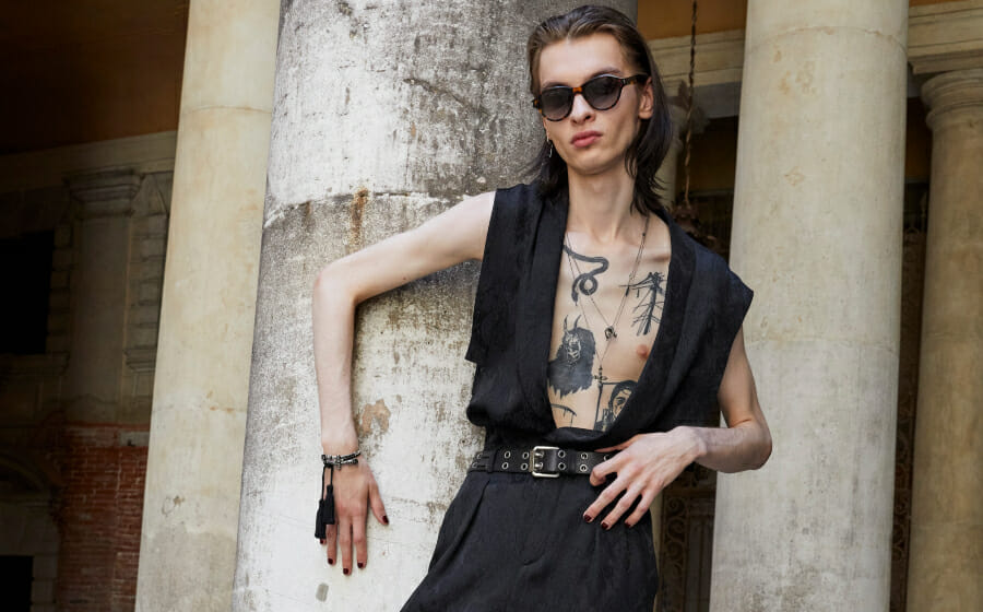 The Saint Laurent Men's Spring Summer 2022 Show is About the Toughness of Softness