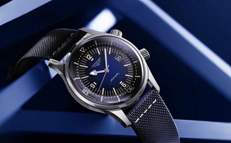 The Longines Legend Diver Watch Takes A Blue Twist