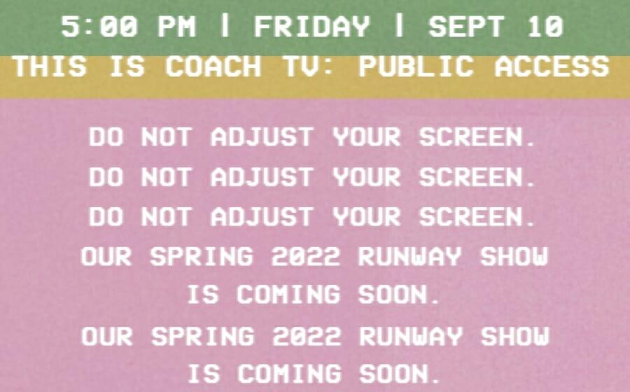 LIVESTREAM — The Coach Spring 2022 Show